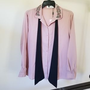 Dusty pink top sequined